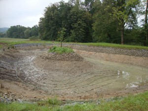 tepelné čerpadlo země voda rybník